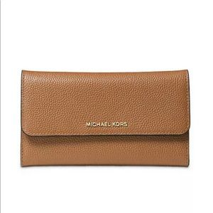 Michael Kors Mercer Tri-Fold Leather Wallet